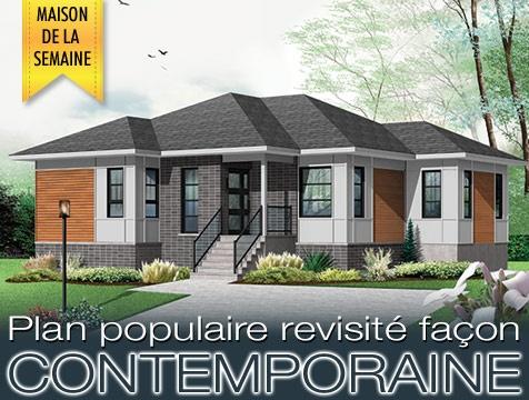 Maison de la semaine w3133 v2 nouveau mod le chez dessins for Dessin de maison moderne