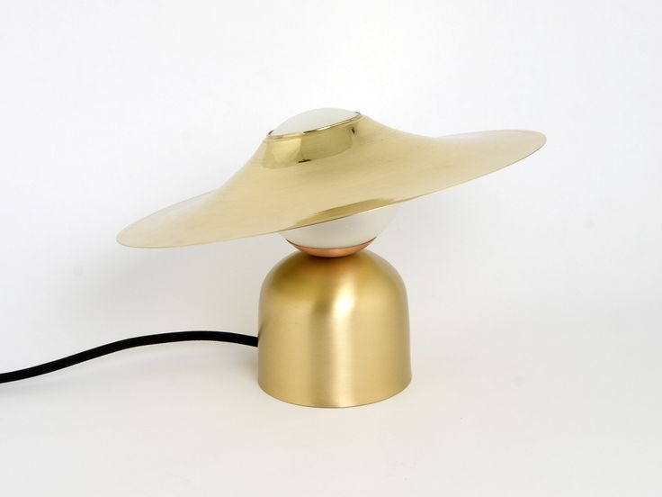 Brass table lamp BONBON WITH DISC | Brass table lamp by Intueri Light