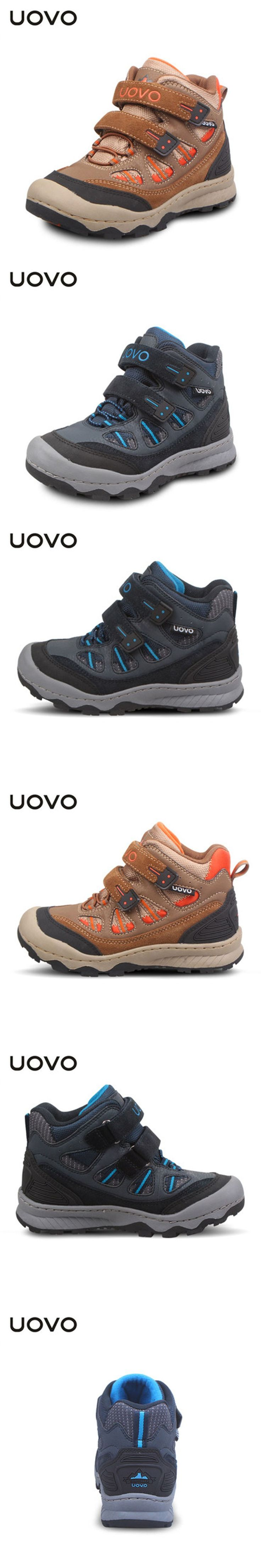 New Uovo Brand Boys Spring Winter Sneakers Kids Sport Outdoor Waterproof Wading Shoes Anti Skid Chaussure Enfant EU 31-36 Shoes $46