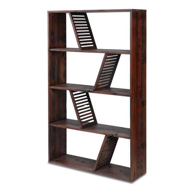 The Shipwood Bookcase Features Reclaimed Wood From Old Chinese Riverboats.
