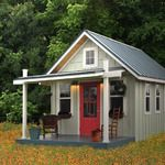 """Kanga Studio: Country Cottage (12' x 14') - Kanga Room Systems: Models Gallery - Backyard Office-Guest House-Pool House-Art Studio-Garden Shed-Tiny House - Isn't this great?  My """"craft room""""!"""