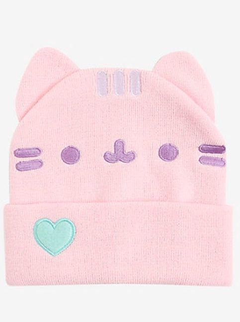 0500089442e Pusheen Pastel Pink Watchman Beanie Purchased from Hot Topic ...
