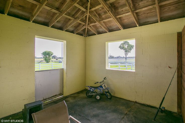 Horse facility in Wellington, Florida - barn