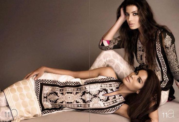 Beautiful elegant black and white party wear by sana Safinaz
