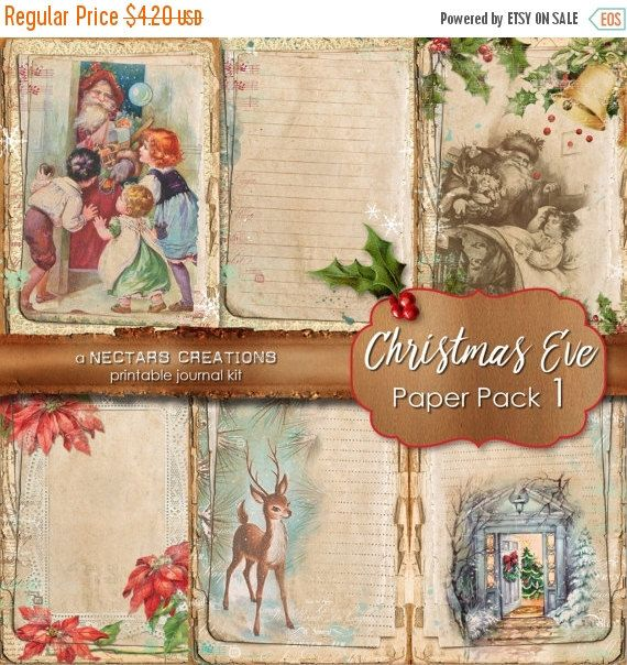 ON SALE CHRISTMAS Eve_Pp1 Printable Junk by NectarsCreations