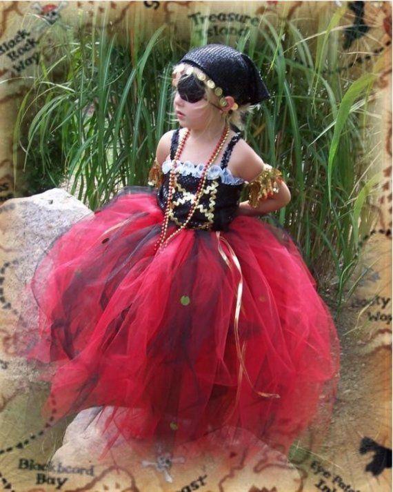 Girls Custom Boutique Pirate Princess Tutu Costume by laSweetBelle