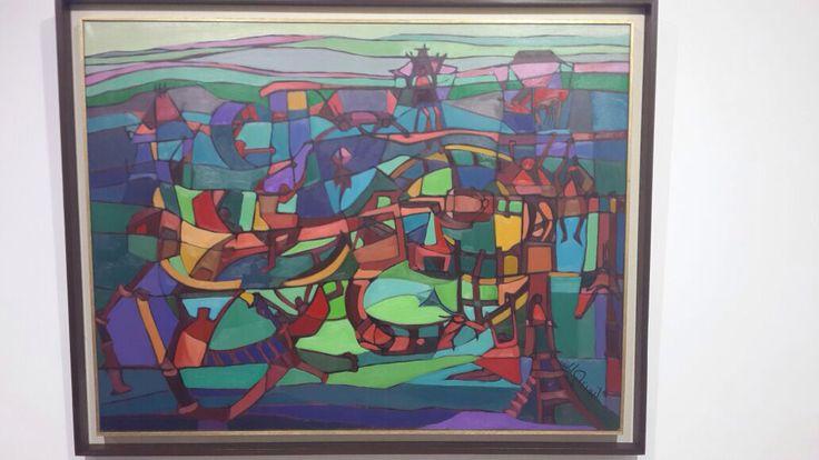 Amusement park Oil on canvas