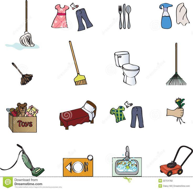 20 best Chore chart clipart images on Pinterest   Chore ...