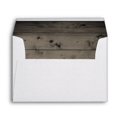 #Rustic Country Wedding Barn Wood 5X7 Envelope - #Wedding #Printed & #Mailing #Envelopes #weddinginvitations #wedding #invitations #party #card #cards #invitation