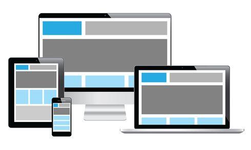 Responsivt design illustrasjon. #responsivedesign #mobilefirst