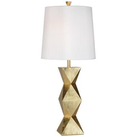 Lamp: Geometric Towers, Table Lamps, Pacific Coast, Ripley Gold, Gold ...