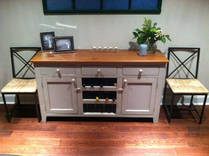 Beautiful Buffet, With Built In Wine Rack. Made From Reclaimed Wood. For  Clientu0027s