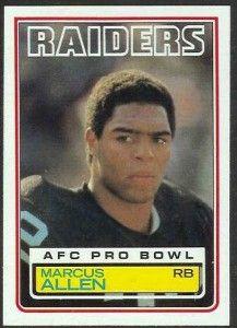 1983 marcus allen football rookie card 217x300 sports card value
