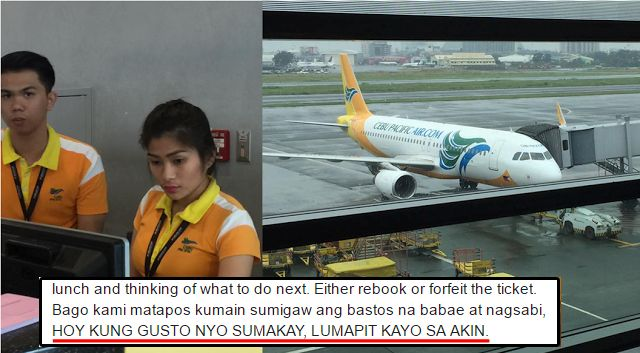 Netizen claims that he was disrespected by a crew in Cebu Pacific! The netizens' reactions? Shocking! - http://inewser.com/netizen-claims-disrespected-crew-cebu-pacific-netizens-reactions-shocking/