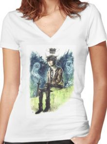 Nico Di Angelo - Son Of Hades Women's Fitted V-Neck T-Shirt