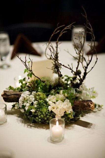 32 Naturally Charming Woodland Wedding Centerpieces