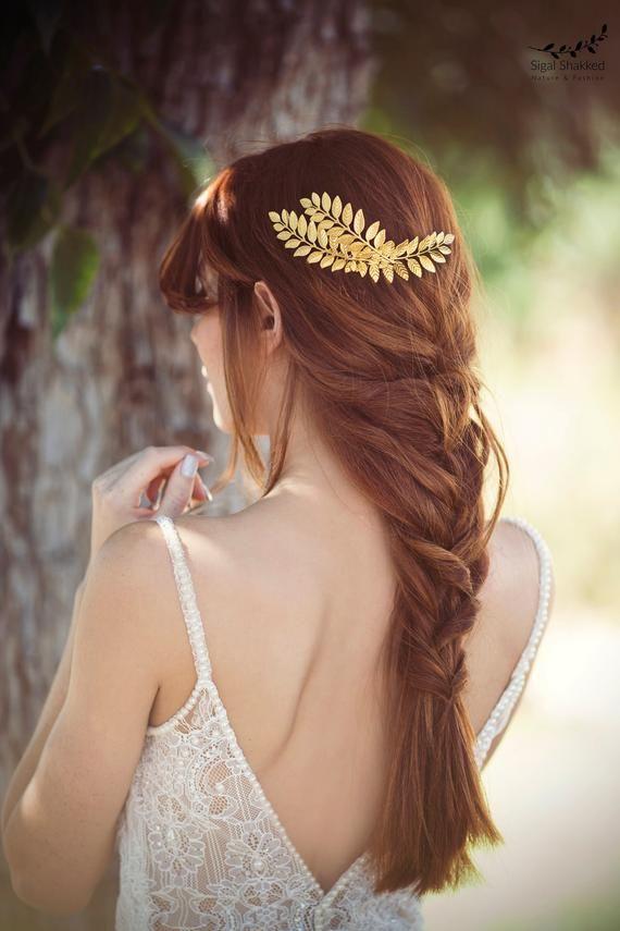 Bridal Hair Comb, Wedding Headpiece, Gold