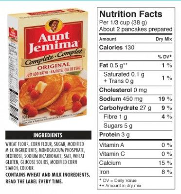 Aunt Jemima's Pancake Mix ingredients. You can do better than that!  Here's an easy recipe for homemade pancake mix that's tastier and healthier.