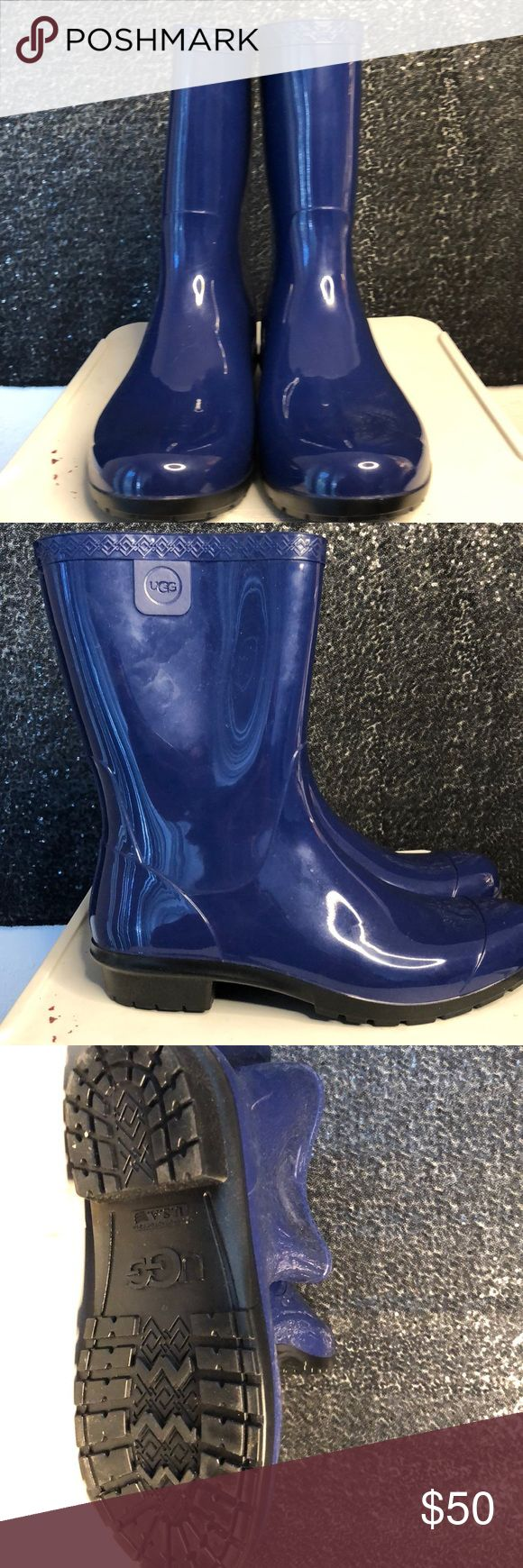 Ugg Rain Boots with soft lining Ugg Rain Boots Size 9 Blue with soft Ugg Lining Mid calf No box  Gently used, maybe worn once or twice UGG Shoes Winter & Rain Boots