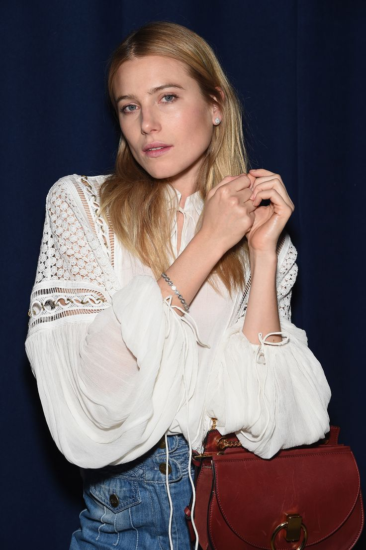 Soulful elegance – Dree Hemingway wearing our #SS15 blouse and bag in New York City, April 2015. #chloeGIRLS