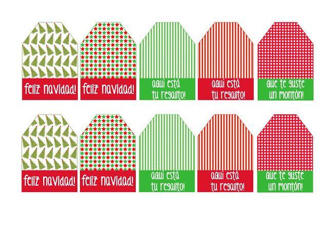 Azucarillos de Colores: Etiquetas navideñas imprimibles y Minisorteo Expréss