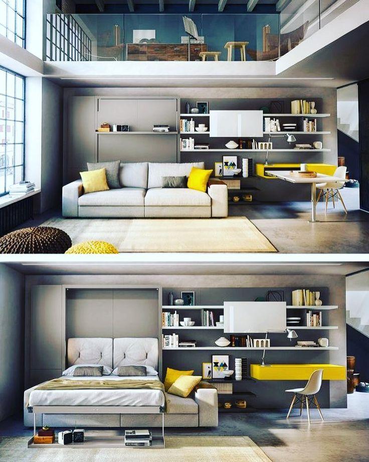 На международной выставке iSaloni 2016 которая прошла буквально пару недель назад в Милане Clei презентовали новую систему мебели трансформирующуюся из гостиной в спальню буквально за пару шагов. Интересно что теперь перед откидной кроватью стоит диван и на мой взгляд это уже действительно работающая на сохранение пространства история  #isaloni2016 by dasha.ukhlinova