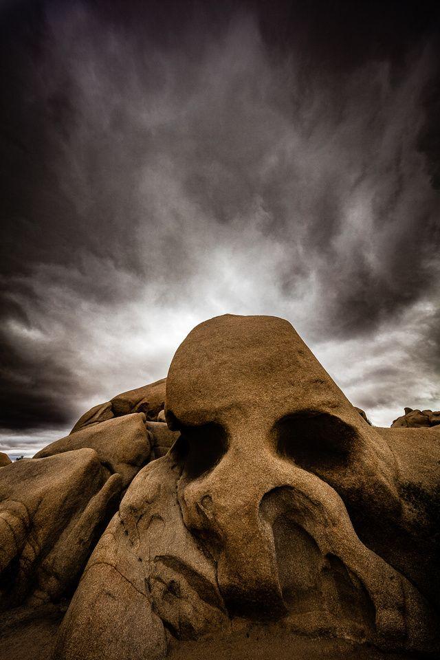 Skull Rock & Storm Clouds, Joshua Tree National Park