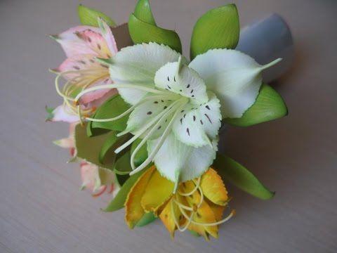 Дикая орхидея или альстромерия из фоамирана
