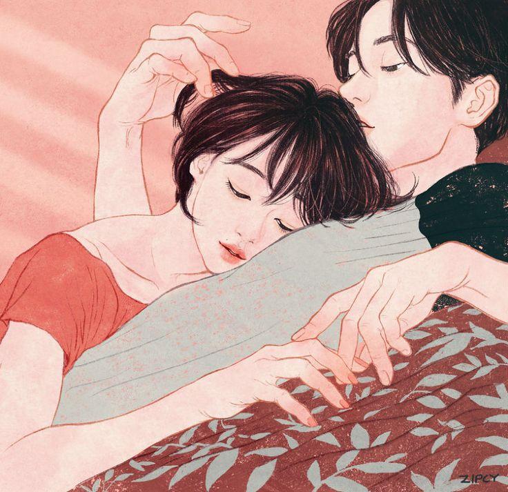 Les illustrations de lamour dans un couple par Yang Se Eun  Dessein de dessin