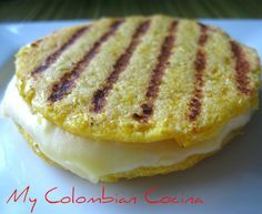 Arepa de Choclo: My absolute favorite arepa I ate in Colombia - Stuffed with cheese from Andres Carne de Res