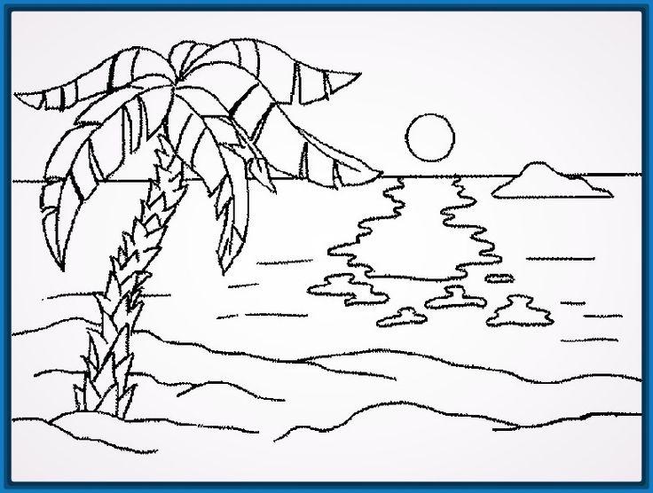 Dibujos faciles y lindos de paisajes