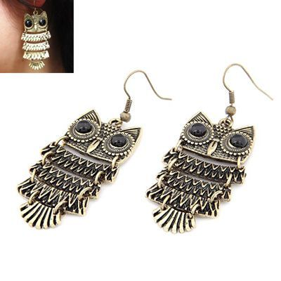 Korean Retro Personality Fashion OWL Delicate Earrings General. Small and catchy. REPIN if you like it. Only 29 IDR