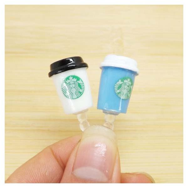 2 colors Cute Starbucks Milk Tea Cup Dust Plug 3.5mm Phone Dust... ($2.99) ❤ liked on Polyvore
