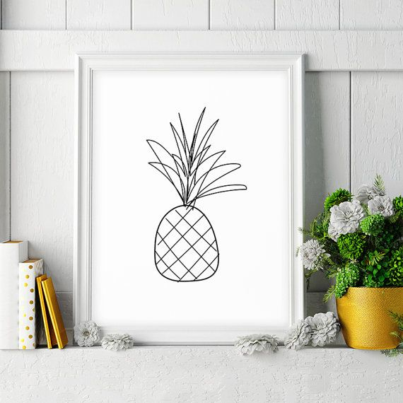 Impression ananas par HappyCatDownloads