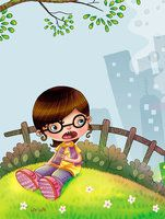 children ilustration mombi
