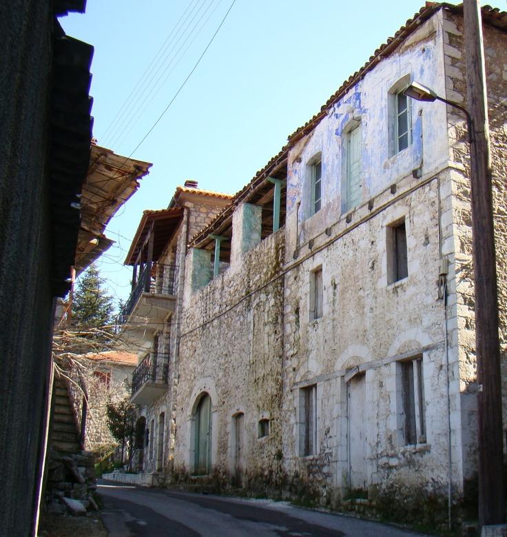 Main Street in Longanikos