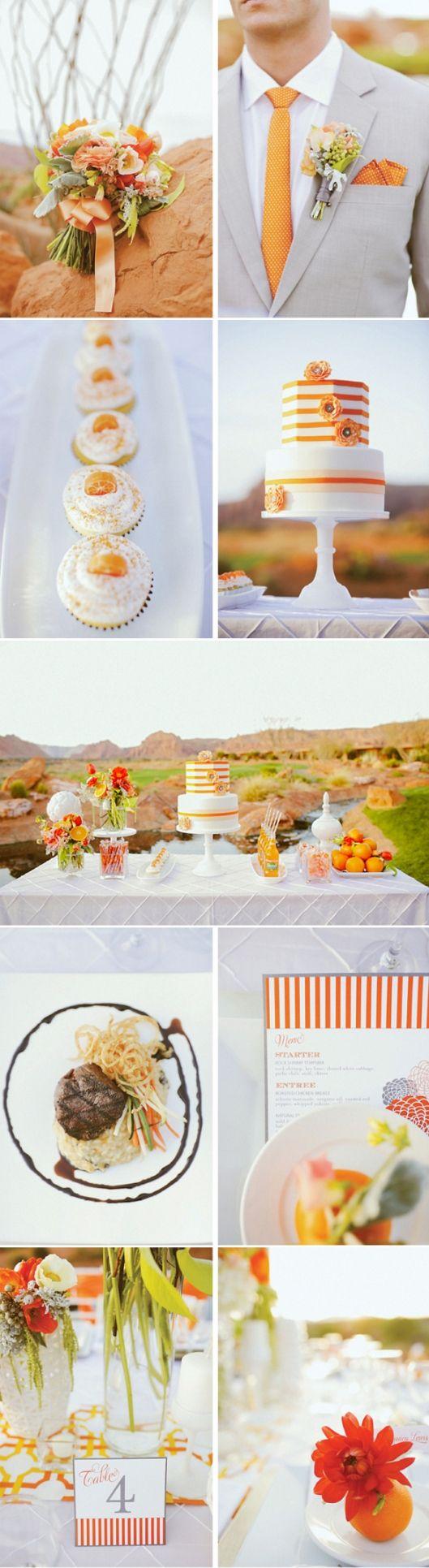 orange wedding!