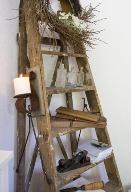 27 best images about ladder ideas on pinterest ladder - Ladders for decorating stairs ...
