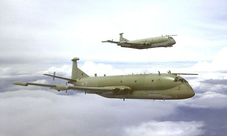 Pair of Nimrod R1s flying in formation, August 2004