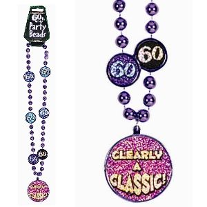 60th Birthday Party Beads