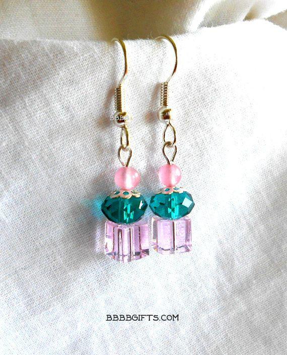 Cupcake Ohrringe Kristall Ohrringe Smaragd von BBBBGiftsCom auf Etsy