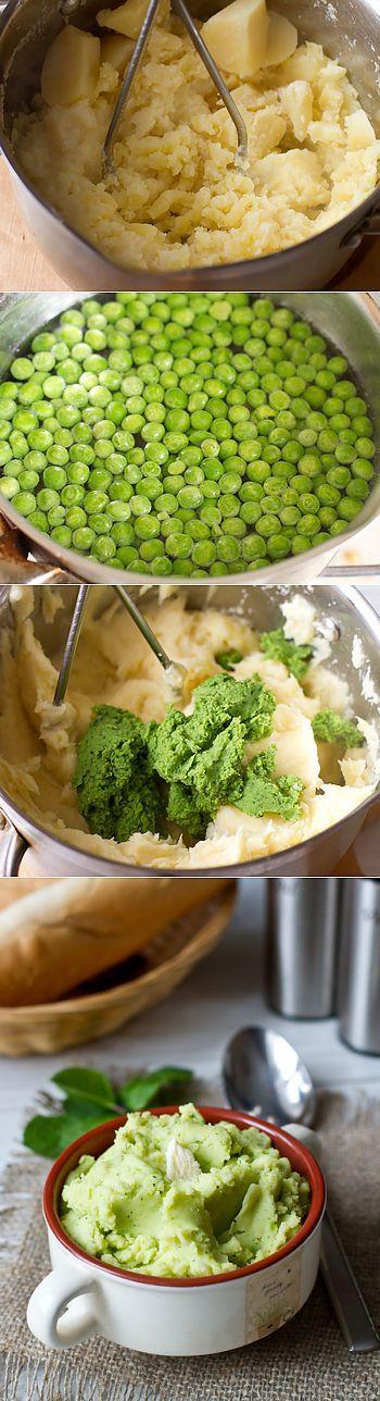 Рецепт картофельного пюре с горошком и мятой » Smak.pro - Кулинарные фото…