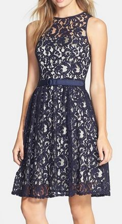 Pretty lace fit and flare dress - 40% off! http://rstyle.me/n/ric99nyg6