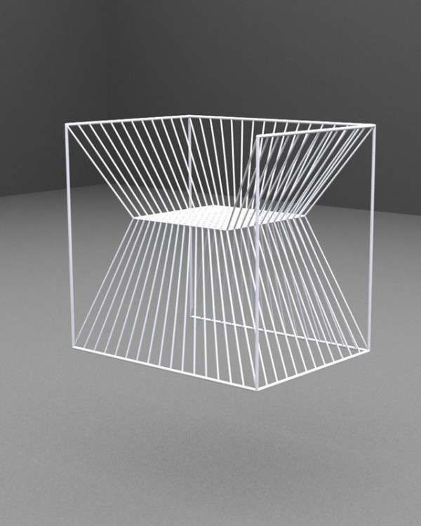 The Fakir Chair by AGI Architects is Like a Physical Optical Illusion trendhunter.com