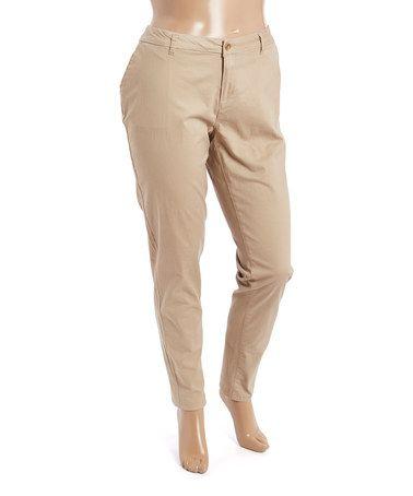 This Havana Cream Pants - Plus is perfect! #zulilyfinds