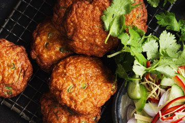 Thai-style fish cakes with cucumber relish- Neil Perry