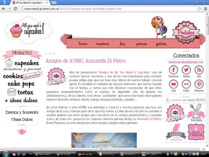 Red de Amigas. En la web de All You Neediscupcakes #babyshowerbook Libro de Baby Shower  http://www.needcupcakes.com.ar/2012/10/amigos-de-aynic-antonella-di-pietro.html