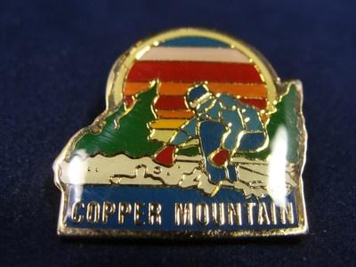 "Vtg Copper Mountain Co Ski Skier Skiing Pin Rainbow Sun Colorful Enamel Gold 1"" | eBay"