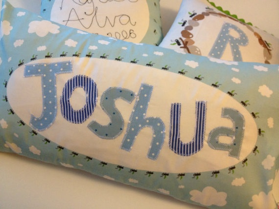 Boy\u0027s Large Personalised Name Cushion Blue with by halfpinthome £36.00 & 11 best Poduszki imienne images on Pinterest | Cushion ideas ... pillowsntoast.com