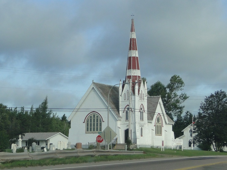 I have a thing for churches and crosses. This is a pic I took in Prince Edward Island